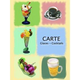 "5 Porte Menus Motif ""Gastronomie"""